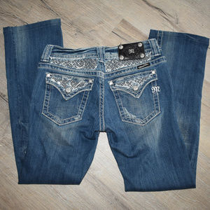 Miss Me Bootcut Distressed Jeans 30